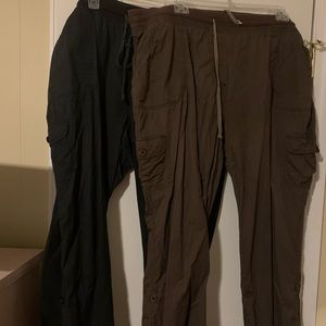 Only Necessities cargo convertible pants, sz 24w